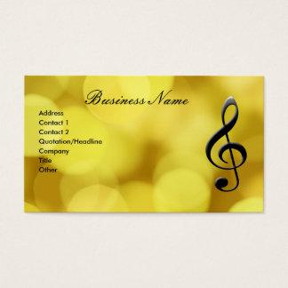 Gクレフ、音符記号及びピアノキーボード 名刺