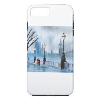 Gブルースによるロンドンテムズの絵画の雨の日 iPhone 7 PLUSケース