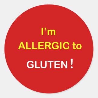 g2 -私はアレルギー-グルテンです ラウンドシール