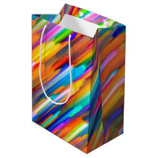 G391をはねかけるギフトバッグのカラフルなデジタル芸術 ミディアムペーパーバッグ