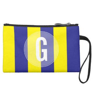"""G""の海上航海のな旗のリストレット スエードクラッチ"