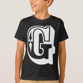 """""""G""""はギャング-アルファベットの手紙のティーのためです Tシャツ"""