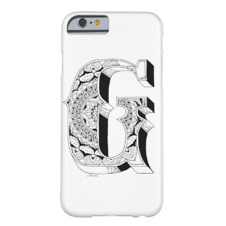 G -アルファベットN°1の中の曼荼羅N°1 BARELY THERE iPhone 6 ケース