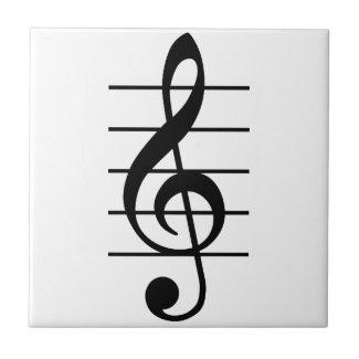 G clef 正方形タイル小