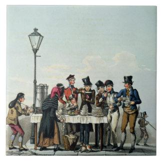 G.Hunt 1825年によって刻まれる通りの朝食(engravi タイル