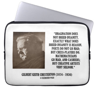 G.K. Chestertonの想像の精神異常のクリエイティブ ラップトップスリーブ
