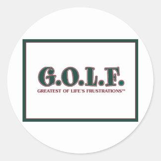 G.O.L.F. 生命の欲求不満の最も素晴らしい 丸型シール