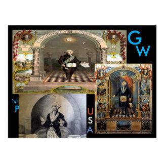 G.W.、ジョージ・ワシントン米国の第1大統領 ポストカード