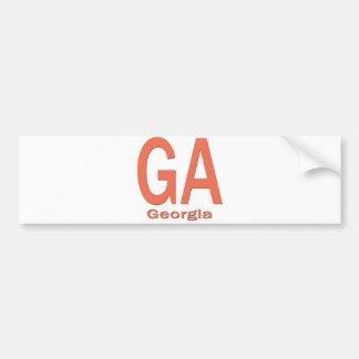 GAジョージアの明白なオレンジ バンパーステッカー