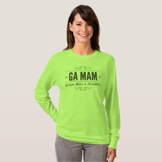 GA MAMのチーム緑の長袖 Tシャツ