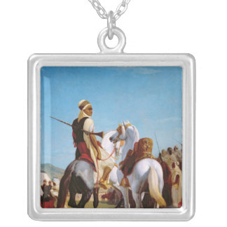 Gaadaの馬、か服従の馬 シルバープレートネックレス