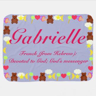 Gabrielleのベビーブランケットのテンプレート ベビー ブランケット