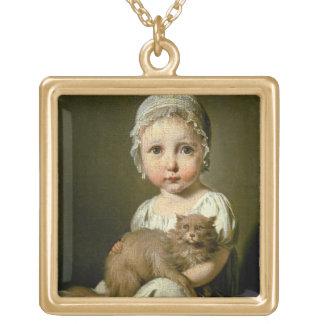 Gabrielle Arnault (1811-72年) 1813年(キャンバスの油) ゴールドプレートネックレス
