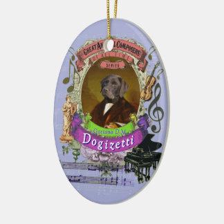 Gaetano Dogizetti Dog Animal Composer Donizetti セラミックオーナメント