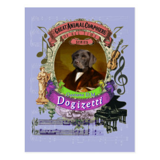 Gaetano Dogizetti Dog Animal Composer Donizetti ポストカード