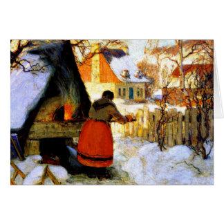 Gagnon -オーブン、冬場面を熱すること カード