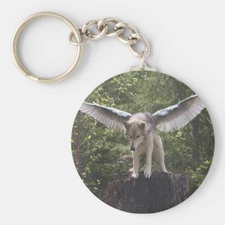 Ga'hoolbe Keychainの飛んだオオカミ キーホルダー