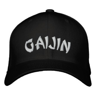 Gaijinの外人 刺繍入りキャップ