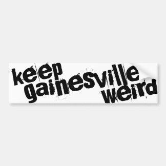 Gainesvilleを風変わり保って下さい バンパーステッカー