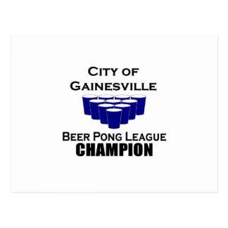 GainesvilleビールPongのチャンピオン ポストカード