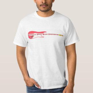Gainesville音楽場面協同組合-白いT Tシャツ