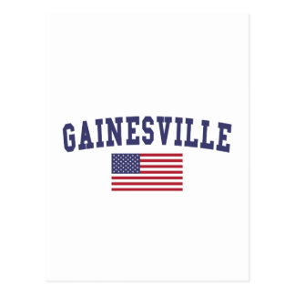 Gainesville GA米国の旗 ポストカード