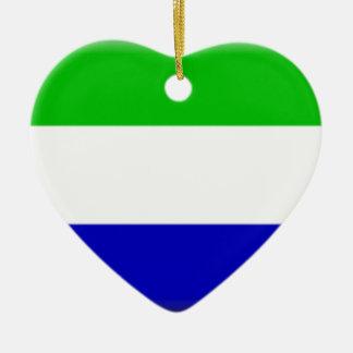 Galápagosの島(エクアドル)の旗 セラミックオーナメント