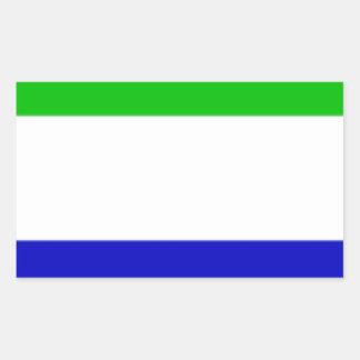 Galápagosの島(エクアドル)の旗 長方形シール