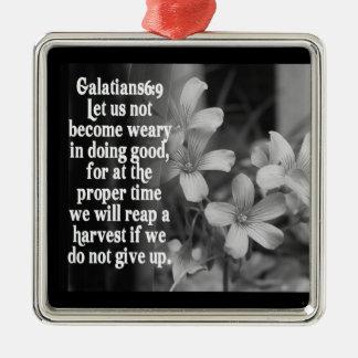GALATIANSの6:9の聖書の聖なる書物、経典のオーナメント-収穫 メタルオーナメント