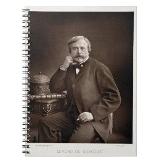 「Galerie Contempからのエドモンドde Goncourt (1822-96年) ノートブック