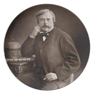 「Galerie Contempからのエドモンドde Goncourt (1822-96年) プレート