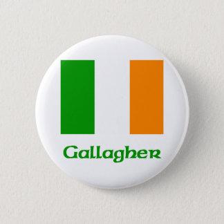 Gallagherのアイルランド人の旗 5.7cm 丸型バッジ