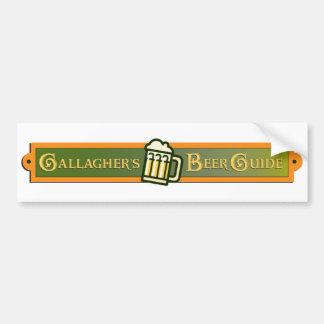 Gallagherのビールガイドのバンパーステッカー バンパーステッカー