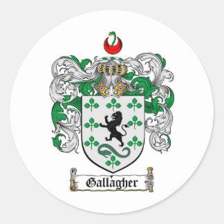 GALLAGHERの家紋- GALLAGHERの紋章付き外衣 ラウンドシール