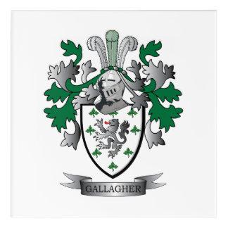 Gallagherの紋章付き外衣 アクリルウォールアート