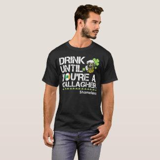 Gallagherまであなたは飲んで下さい Tシャツ