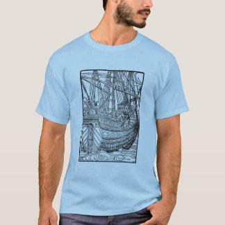 Galleonの帆船のTシャツ Tシャツ