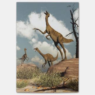 Gallimimusの恐竜- 3Dは描写します ポストイット