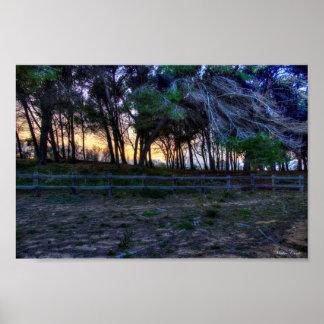 GallipoliのビーチのHDRの冬 ポスター