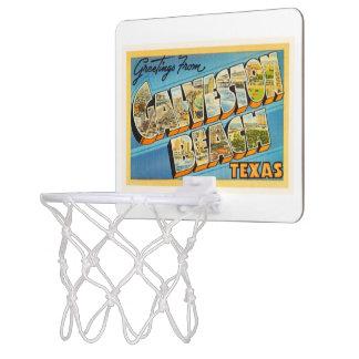 Galvestonのビーチのテキサス州TXのヴィンテージ旅行記念品 ミニバスケットボールゴール