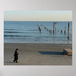 Galvestonのビーチの後Huricane Ikeポスター ポスター