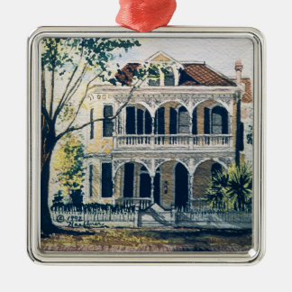 Galvestonの水彩画、1887年のハワードCarnesの家 メタルオーナメント