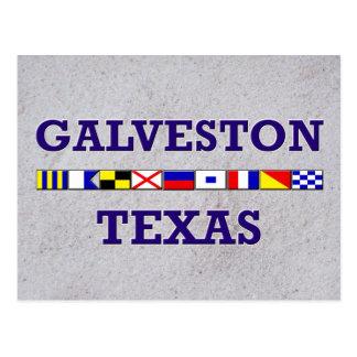 Galvestonの航海のな旗-砂の郵便はがき ポストカード