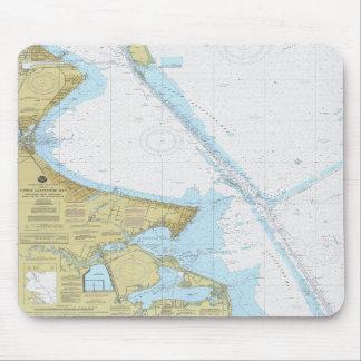 Galveston湾のヒューストン船チャネルの図表のマウスパッド マウスパッド