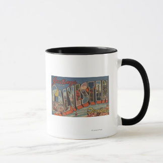 Galveston、テキサス州-大きい手紙場面 マグカップ