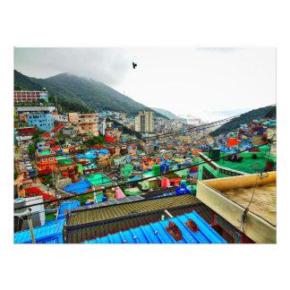 Gamcheonの文化的な村韓国 フォトプリント
