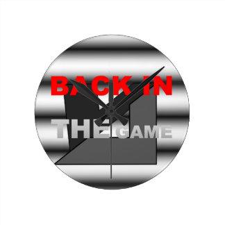 GAMEa.jpgのロゴの背部 ラウンド壁時計