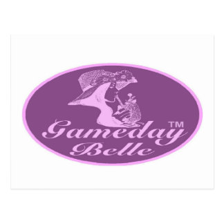 Gamedayの美女の署名のデザイン ポストカード