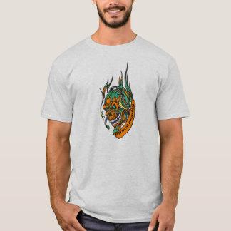 Gamefroobs: Klinicalの精神異常のスカルのTシャツ Tシャツ