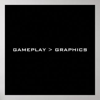 Gameplay >グラフィック。 黒い白 ポスター
